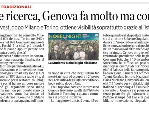 Innovazione e ricerca a Genova, Milano e Torino