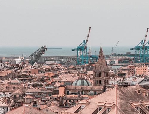 I due araldi di Genova nel 2019, il Pesto e Ponte Morandi